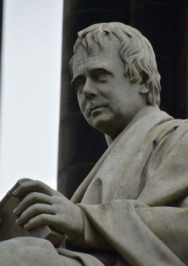 Statue of Sir Walter Scott at the Scott's Monument